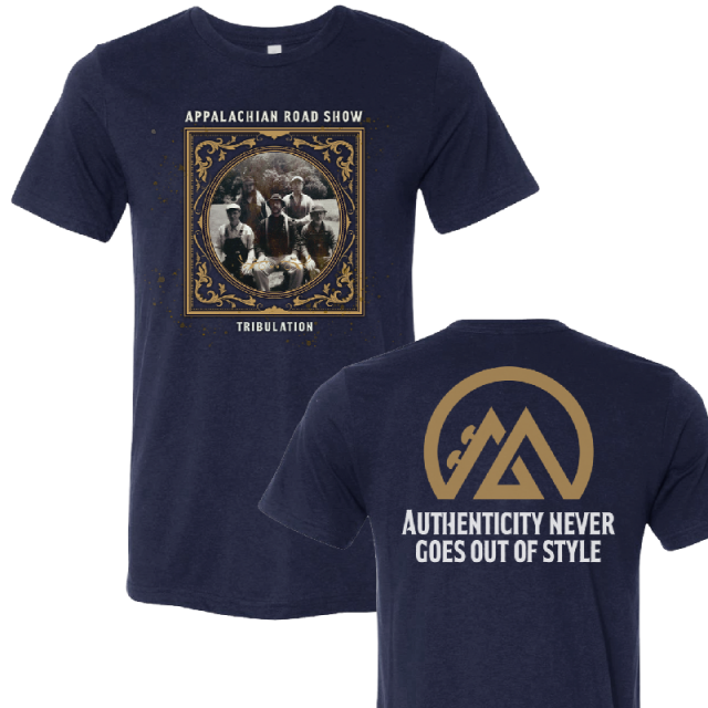 Appalachian Road Show Navy Album Cover Tee